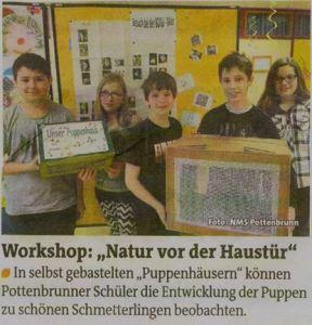Zeitungsartikel Pottenbrunn_Bezirksblatt St Pölten